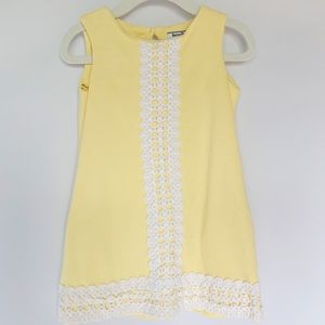 Hartstrings Yellow Dress with Crochet Lace Front